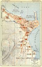 Corse-du-sud. ajaccio corse 1926 ancienne vintage carte plan graphique