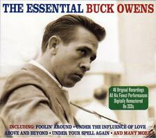 BUCK OWENS - THE ESSENTIAL -  46 ORIGINAL RECORDINGS (NEW SEALED 2CD)