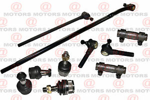 Steering 4 Tie Rod 4 End Ball joint 2 Sleeve 4WD Ford Bronco / F-150 fits 80-96