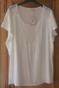 BHS Authentic size 22 Ivory summer top BNWT