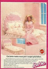 X1075 BARBIE - Un letto tutto rosa - Mattel - Pubblicità 1988 - Advertising