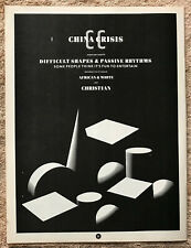 CHINA CRISIS - DIFFICULT SHAPES 1983 Full page UK magazine ad
