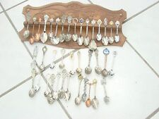 Large Spoon Collection w/ wooden plack Souvenir , Some American Collectors Guild
