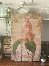 68cm Tall Vintage Style Wooden Family & Friends Sign Plaque Wall Art RRP $59.95