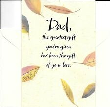 Happy Birthday Dad  - Nature Leaves Theme - Hallmark Greeting & Gift Card Holder