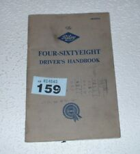 RILEY FOUR SIXTY EIGHT OWNERS INSTRUCTION HANDBOOK
