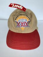 Vintage Super Bowl XXIX Adjustable Cap  NWT January 1995 Chargers 49ers