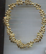 Metalic Leaf Necklace Kenneth Lane Gold