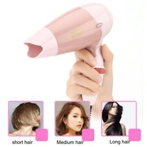 1000W Folding Pro Ultra Travel Concentrator for Heat Styling Mini Hairdryer Rose
