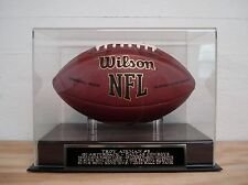 Troy Aikman Football Display Case With A Dallas Cowboys MVP Engraved Nameplate