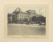 Munich Scène de rue Allemagne Photographie artistique Vintage argentique 1912