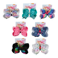 7inch Rainbow Butterfly Printed Hair Bow With Alligator Clip Bowknot Hairgrips