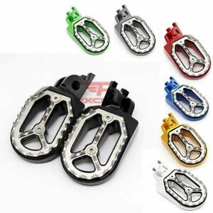 For Honda CR125 CR250 02-2008 CRF250X 04-15 Motorcycle Footpegs Footrest Pedals