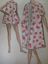 UNCUT Vintage 60s Advance 2918 SHORTIE PAJAMAS & ROBE Sewing Pattern Women Sz 14
