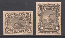 Salvador Sc 3, 19, facsimiles, 1867 & 1887 issues, black print, simulated perfs