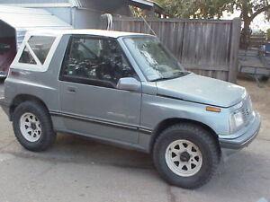 White 86-94 Suzuki Sidekick Geo Chevrolet Tracker Replacement Soft Top
