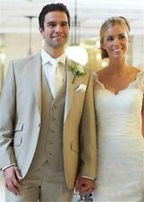 3 Piece Men's Wedding Suits Groom Best Men Tuxedos Custom Size Formal Prom Suit