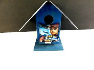 Jeff Gordon handmade birdhouse, Chevy license plate for roof, die cast card, pic