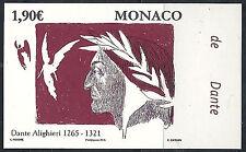 MONACO n° 2974, DANTE, NON DENTELE IMPERF, TB ** et RARE