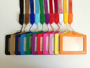 1x Leather Oyster Card,Bus Pass,Student ID Card,Access Card Holder Lanyard Strap