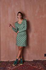 PiP Studio Dana Raindrops Nightdress Long Sleeve Green S