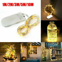 10/20/30/50/100 LEDs Battery Operated Mini LED Copper Wire String Fairy Lights