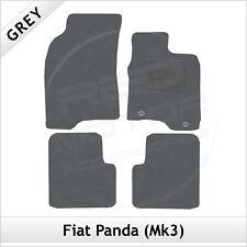 FIAT PANDA Mk3 2012 in poi 2-OCCHIELLI SU MISURA TAPPETI AUTO tappetini Grigio
