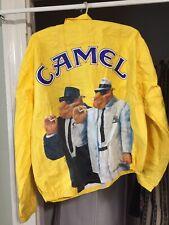 VTG 1990 JOE CAMEL CIGARETTE BLUES BROS. FULL ZIP LIGHT YELLOW JACKET XL.(44-46)