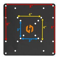 """Universal VESA Conversion Adapter Plate for Wall Mounts to extend up to 8 x 8"""""""