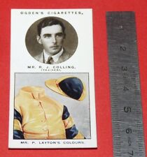 JOCKEY 1926 OGDEN'S CIGARETTES CARD TRAINERS OWNERS' COLOURS 7 R.J. COLLING