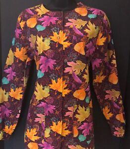 Gently Used Nursing medical scrub coat jacket top-Xs
