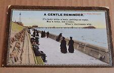 Postcard Blackpool Lower north Walk embossed posted 1912.