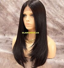 Long Straight Layered Brown Full Lace Front Wig Heat Ok Hair Piece #4 NWT