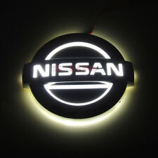 White Adaptation 5D LED Tail Logo Light Badge Emblem For Nissan LIVINA Cedric
