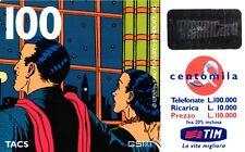 1588 SCHEDA RICARICA USATA TIM 100 MANDRAKE E NARDA 11 NOV.2000 OCR 18