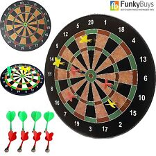 "NEW 16"" Magnetic Dart Board Dartboard 6 Darts Party Game Play Set Best Deal Sale"