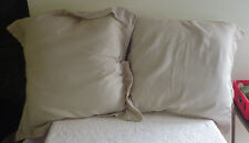 Marquis Waterford Wavy Daze Neutral Euro Sham Filled Set of 2 Pillows New