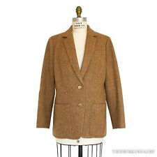 AUTHENTIC HERMES Beige Camel Tweed Wool Blazer / Jacket / Sports Coat - NEW!!!