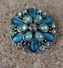 Blue and Green Flourish Sn10-68 Ginger Snap Buy 4 Get 5Th $6.95 Snap Free