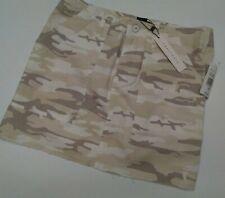Sanctuary Women Camo Skirt Size 26 NWT Desert Beige White Brown 119$