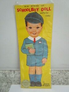 """Queen Holden Stand Up School Boy Paper Doll 1985 Large 15"""" tall"""