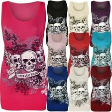 Skull Regular Size Sleeveless Tops & Blouses for Women