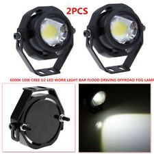 SUV Boat Bus 6000K 10W Cree U2 LED Work Light Bar Flood Driving Offroad Fog Lamp