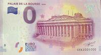 BILLET 0 EURO PALAIS DE LA BOURSE PARIS  2017 NUMERO 5000 DERNIER BILLET