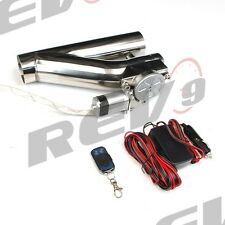 "REV9 V2 UNIVERSAL 3"" EXHAUST CATBACK ELECTRIC CUTOUT KIT W/ REMOTE RACING 76MM"