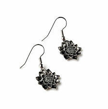 Lotus Flower Earrings - Cool Accessories - Women's Jewelry - Handmade - Gift Box