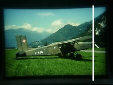 military aircraft slide Swiss Air Force Turbo Porter PC-6 V-620 Mollis 1996 gng5