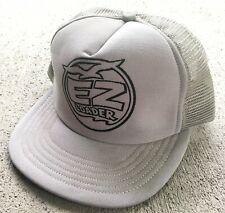 VTG EZ Loader Trailers Boats Gray Snapback Cap Trucker Hat NOS - Very Rare