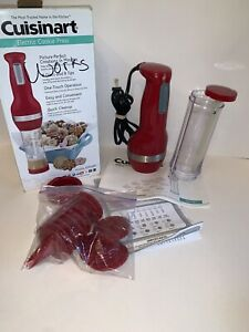 Cuisinart Electric Cookie Press 8 Discs and 8 Decorating Tips CCP-20R Red
