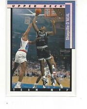 1993-94 UPPER DECK BASKETBALL TEAM MVPS SHAQUILLE O'NEAL #TM19 - ORLANDO MAGIC